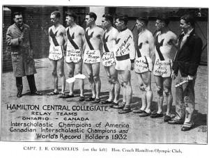1932 Relay Team w Capt Cornelius